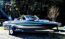 Beautiful and fast 175 2 stroke Live bait tanks Electric trolling motor Life jackets, knee board, floating tow rope, And water skis Brand new stereo(installed by madman Mckay ) with waterproof sidewall speakers Tower speakers Subwoofer 2 amps Waterproof