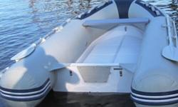 10 ft Great Pacific Double Fiberglass Hull Inflatable boat $600.00 NOW $500.