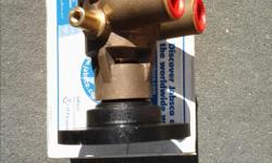 REDUCED PRICE, AGAIN! New in box, 50410 raw water pump, never installed. New price $370. Fits 305, 350, 454 engines. Stored with impeller removed. Replaces Volvo, Sherwood, etc Also new Scotty crab/prawn pulley. $18