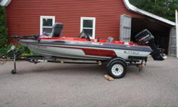 Javelin 350A bass boat with 60 HP Evinrude outboard and Javelin trailer. Live well, trolling motor and dual fish finders. Boat is like new with fresh water use only and less than 50 hours. Recently serviced and ready for the mackerel. Asking $6,900.