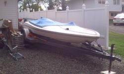 Jet Boat. Engine was rebuilt lots of new performance parts. Big V8 lots of power. Complete with trailer and boat cover as seen in the pictures. Overall condition is very good needs a little tlc just to tidy it up. If you want to get noticed on the lake