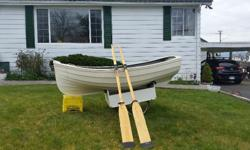 Excellent shape SUPER light Easy to carry and launch Comes with oars and trailer