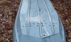 "12' 6"" Jon Boat aluminum New rivets put in and water tight. Leave message if not home. $700 obo"