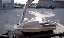 stand up jet ski with a 300cc single cylinder motor. very clean, fun machine with a lot of get up go. comes with trailer. 4x8 home made trailer with new tires and lights,  1500 or best offer.