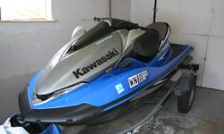 KAWASAKI ULTRA 250-X JET SKI   Super low hours, only 30 ish hours on it. It comes with a great little trailer that you can tow with any car since it is super light. It is one of the most reliable jet ski that it is a legal ski boat (you can tow a skier).