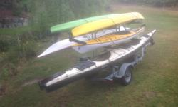 Trailer for (6) kayaks & gears; Seaward Southwind 22', Lightspeed Phoenix 18', Current Design 14.5' & (2) Necky's + More than complete gears for each Kayaks. + Tents, sleep in bags, cushion, cooking sets, etc ... Everything for (6) adventurers fully