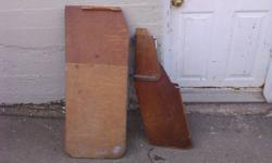 Keel and Rudder for small boat.    plywood construction.   I am not sure  what type of  boat they came from but  both are in good shape. Email for measurements or to arrange a visit. located in Dartmouth.