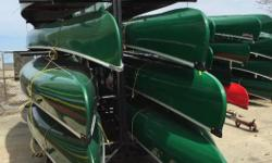 FREE DELIVERY around the Hwy 401 corridor from Hamilton to Montreal every month. Kevlar Canoes sizes: 14, 15, 16 and 17' 42 lbs to 52 lbs. Choice of white ash or Black Cherry seats and deep yoke. Teal yoke. Curved seats. Anodized aluminum gunwales. Double