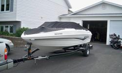 I am selling my 2008 Larson 180 speed boat its an 18ft boat. This boat has been babied always spent every night in a garage never stayed in the water over night. this boat has removable carpet and easily re installs. The motor is a Mercury 4 cylinder 3.0L