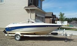 This has open front bowe, 4.3 inboard engine, nice interior, trailer, storage cover. Nice Boat Good Price