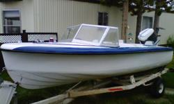 Great size to tow behind any truck or small suv. Comes with trailer.70hp Mercury  runs well asking 1200    Heres a link of the boat going up the river http://youtu.be/2O2dTcoQcro