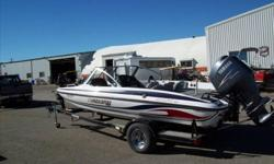 19 foot Stratos loaded up with many options. GPS fish finders,trolling motors, bow buddy etc etc. Owned locally bu Alberta Marine salesman (Jay) and ready for you to go 60 MPH in!! Financing available with LOW payments! albertamarine.com