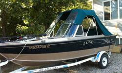 Price Reduced For Quick Sale 2000 Lund Pro Sport 1700 Adventurer, 2001 150 optimax fuelinjection and oil injection, runs like a top, 19 pitch SS Prop does 50 mph on the water. Boat has full Bimini cover, front cover, new 70 lb 24V Minkkota bow mount