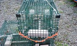for sale 10 lobster traps 40 inches long 10 meshes deep never used a full season because of odd size.paid 72.00 each sell for 35.00 each.