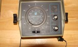 Unit has two scales, 0-60' and 60-180'. Runs on 12 volt DC, runs great. Needs a transducer (there might be one on the bottom of your boat)   Make a reasonable offer.
