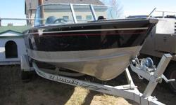 Reason we are selling is we are upgrading to a different boat.  This boat is in excellent condition.  Runs excellent.   Built in Lowrance fish finder (3months old).  4 swivel lund seats, built-in rod locker, lockable storage box, automatic livewell, 2004