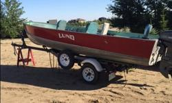 Great condition, very clean, stored indoors all winter, canvas travel tarp. Trailer has brand new tires, spare tire, LED lights. - 1992, 25 Horse Mariner/new prop with 25 Litre marine fuel tank - Motor Guide, T36 trolling motor, Eagle/Cuda 128 fish