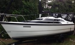 The 26M Macgregor Sailboat/motorboat is ideal for Gulf Island sailing although passages have been made to Alaska and the Bahamas and as the Macgregor web page shows, the open ocean. This particular sailboat was sold by Blue Water Yachts as the 'Super