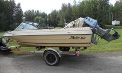 Boat in good condition. Motor has blown piston and needs work. Motor is an Evinrude 120 which can be parted out. Trailer included as well as newly re-done snap on cover. Unfortunately dont have the time or money to rebuild motor.