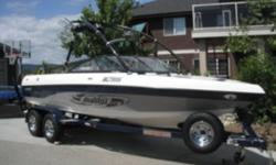 2005 Malibu V-Ride 340 HP Monsoon, MLS Ballast System, Wedge, Perfect Pass Wakeboard Pro, Bimini, Storage and Travel Cover, 385 hours, many extras, This boat is in great shape and has an awesome surf and wakeboard wake.  One owner, I have dramatically