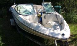 For sale a 2006 Maxum 1800 with a 135hp inboard/outboard mercruiser engine. Come with colour matching powder coated trailer. Boat has only been used a couple of time a year for the past 10 years. There is a four blade prop on it and I have a three blade