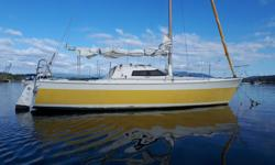 mega 30 racing or cruising sailboat excellent condition with many sails comes with 9.8 4 stroke yamaha outboard just serviced by deans marine in duncan.