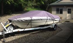1997 Monterey 18ft bowrider. Pristine condition inside & out. Fresh water use only , Bimini top , extra prop , 3 litre 135hp. Ez loader trailer has new tires & spare.