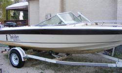 1983 Invader, 19ft  fiberglass open bow, 9 passenger,comes with a  1991 - 150 hp mercury xr6, with stainless steel high-five propeller.  Boat interior was reupholstered this year, new battery.  Super fast, easily reaches 53 mph.  Lots of power for pulling