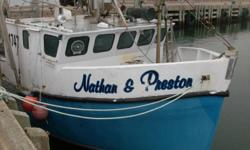 """44""""11' danish seiner, With self ajustable reels, everything has been rebuilt or refurbished, new computer, new GPS and New Black Box, FiberGlass Hull, any questions, call 902-574-7775"""