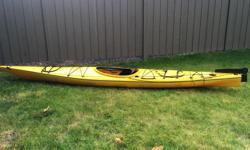 "15 foot Necky ""Kyook"" kayak. Includes paddle, sprayskirt and pump."