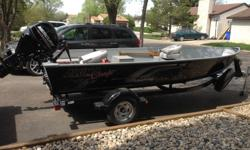 "I have a new 2015 Aluma Craft 16'7"" aluminum boat for sale complete with 2015 25 HP EFI tiller motor, 2015 Shore lander Trailer, 2016 Hummingbird Helix 5 sonar/GPS fish finder, Transom mount, Boat cover, Paddles, 4-PFD, Anchor, ropes Etc All of this in"