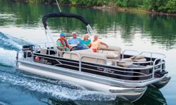"""**LIMITED TIME OFFER** REGULAR: $38,995 - $5000 CASH ALTERNATIVE =$33,995 w/60 ELPT 4Stroke Command Thrust Includes Sun Tracker 10+Life Warranty """"The Best Warranty in the Pontoon Business""""! *Offer Expires End of Month With room for a crew of up to 10, the"""