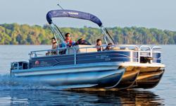**LIMITED TIME OFFER** REGULAR: $53,995 - $4000 CASH REBATE = $49,995 w/115 ELPT Command Thrust LIMITED TIME BONUS: Upgraded Cover & Fishfinder! 2016 Fishin' Barge® 22 XP3 w/150L 4s - $56,995 less $4,000 cash alternative = $52,995 Includes Includes Sun