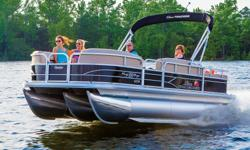 """**LIMITED TIME OFFER** REGULAR: $53,995 - $4000 CASH ALTERNATIVE =$49,995 w/115 4Stroke CT ADDITIONAL SUMMER TIME SAVINGS NOW $47,995 w/115 4Stroke Command Thrust 2016 Party Barge® 22 XP3 w/150L 4s - $52,995 Includes Sun Tracker 10+Life Warranty """"The Best"""