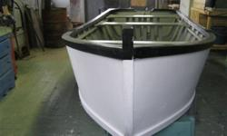 DEAL PENDING   ------    BRAND NEW 14 1/2 FOOT FLAT BOTTOM BOAT, 5 1/2 FEET ACROSS THE CENTER, 2 FEET DEEP WITH 6 1X3 INCH, SCRUBBERS TO PROTECT THE BOTTOM , I KNOW NOTHING ABOUT BOATS, I PLACED THIS ON BEHALF OF MY FATHERE-IN-LAW WHO HAS BUILT AND SOLD