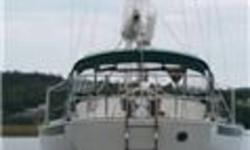 "Niagra 35 ""Tormentor"" Designer Mark Ellis Hull Material: Fiberglass Engine Type Volvo Diesel 2Cyl 25 hp Fresh Water Tanks: 80 US Gallons Fuel Tanks: 30 US Gallons Holding Tanks: 25 US Gallons Navigational and Electrical: Binnacle Compass and cover. Garmin"