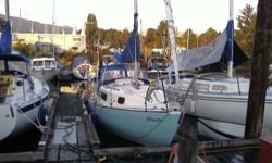 1975 Northern 25' Sailboat with Tohatsu 9.8 hp motor. Sleeps 5, alcohol 2 burner stove, head. Self-furling foresail, mainsail, spinnaker (rigged), dodger, 2 anchors, radio-dsr, depth sounder, solar panel and charger. Newly painted (top to bottom), dinghy