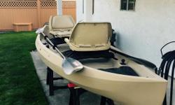 12 ft Nucanoe c/w wheel , paddles, captain seats, will also accommodate 2 hp motor. Lots of fun 1100 firm