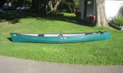 "Old Town canoe - ""Guide 147"" series Approx 8 years old & in very good condition. Made of Polyethylene material throughout. 14 ft 7 inches long X 38"" wide Weight = 74lbs Price $400.00"