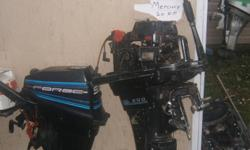 Outboards for parts Suzuki,s 8 h p honda 20 merc 9.9 force 15 johnson 6 evinrude package deal or separately A couple of these can be easly repaired $600.00 for all or $100.00 each your choice