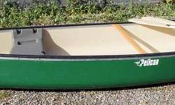 Pelican (Trekker) canoe - new condition (1 year old - used 4 times). Includes paddles, also comes with a removable motor mount.