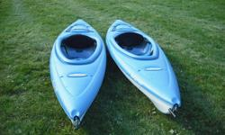 """Pelican Kayaks 10 feet long 28"""" wide used 3 times Paid $400 each asking for $500 for both"""