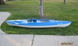 Selling my kayak as I'll be moving home this winter and not able to take it with me. Great condition and just normal wear on the bottom. If you have any questions please ask.