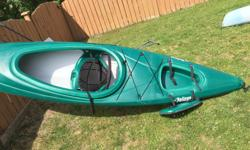 Pelican Pursuit 120 Kayak $ 350 This 12ft model offers more stability, legroom, capacity and glide compared to shorter Pelican kayaks. All important features if you plan on being out on the lake for more than a few moments. Rugged Ram-X hull for years of