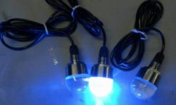 """This unique product replaces your standard 1/2"""" NPT drain plug in your hull and utilizes the existing fitting to install a High Power , 6 LED underwater light making it an user friendly and cost effective way to add over 500 Lumens of underwater lighting"""