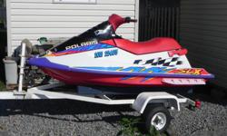 Looking for a fast machine? This is it! This is a 1996 watercraft by Polaris model number SLX 780 with 90+ hp. It is in excellent running condition. It has digital gauges, electric trim. Engine was professionally rebuilt in 2013 and we have used it