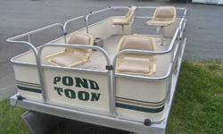 New pond toon boat for sale. Reduced to clear at only $5900 ! November 22..Reduced again...call for details! Includes free inside winter storage 'till spring. Call Sean or Dave at Maloneys RV in Paradise at 782-5231