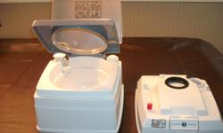 Brand new port-a-potty. fresh water tested. Not used. $100 new, for you $80 firm cash. 250-655-0956