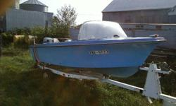 1981????      Blue 3 seater moterboat has bench in front no leaks, water worthy!! good condition! trailer is in excellent condition.  other then that dont know much about it. Serious inquiries only please! NEW PRICE!!   $600