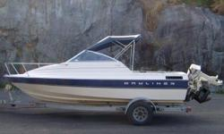 1851 Bayliner, great on the lake as well as on the ocean, 4 cylinder inboard, (brand new in 2013) volvo penta with mercruiser leg, in good shape,